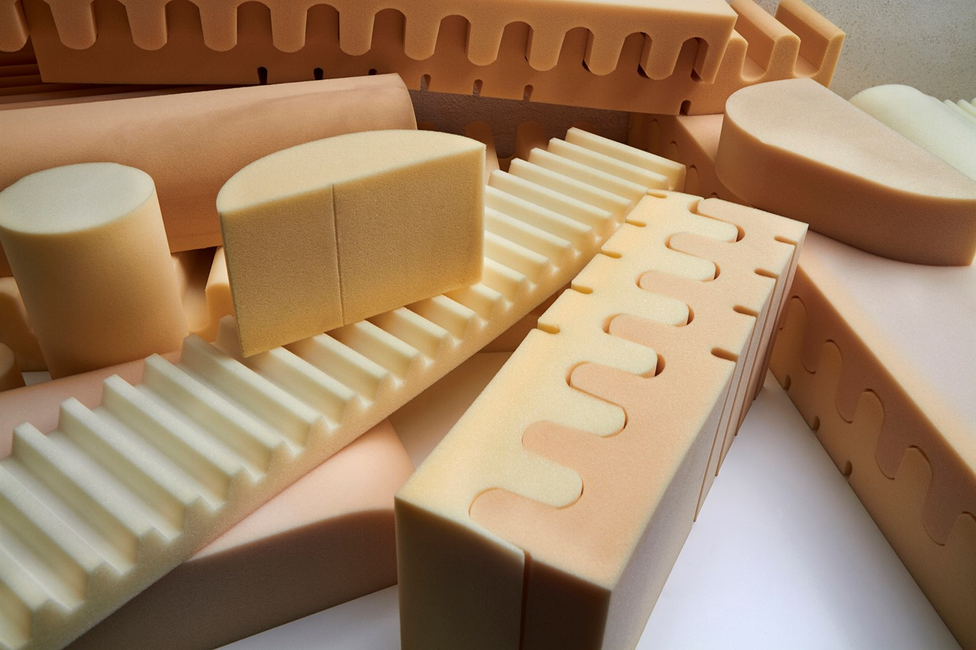 Production of molded polyurethane foam products for various industries